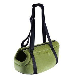 Pet Carrier Tote Bag in Black & Green